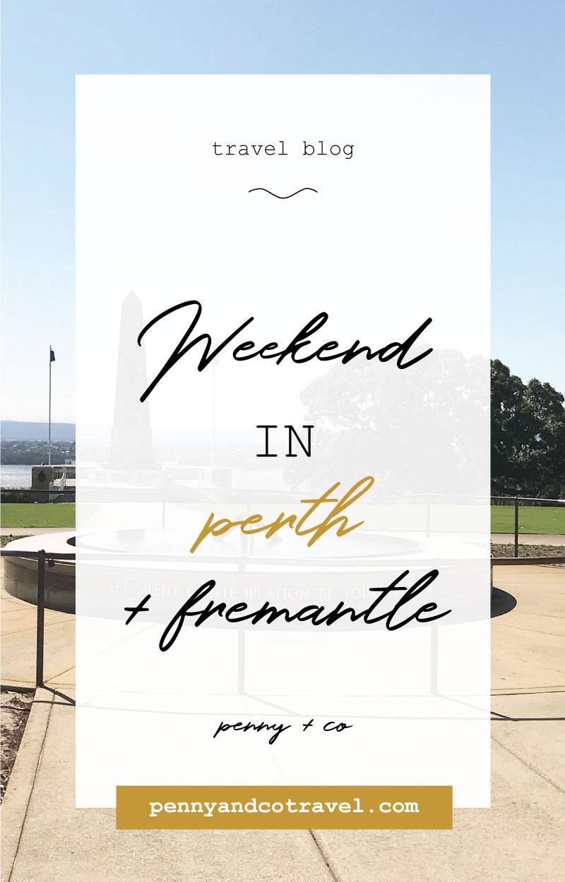 A weekend in perth & fremantle blog